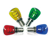 T27 Coloured LED Pygmy Bulbs
