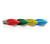 C35 Coloured LED Candle Bulb